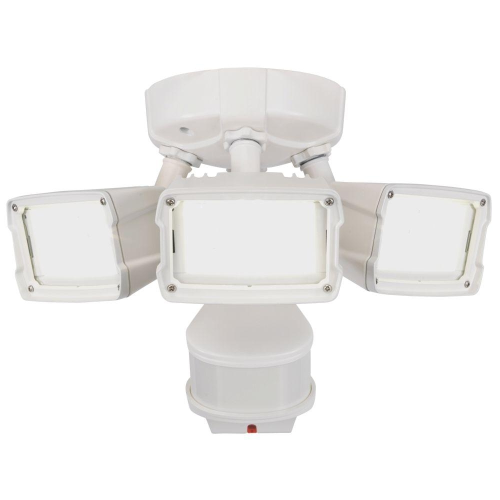 Defiant 270 Degree White Doppler Motion Activated Outdoor Led Within Well Known Outdoor Ceiling Flood Lights (View 8 of 20)