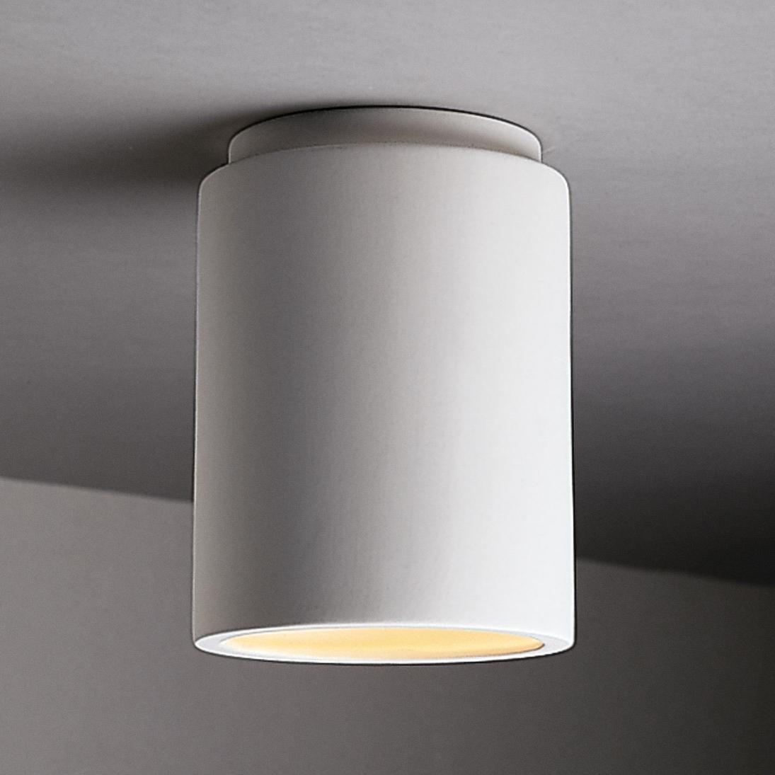 Design Cer 6100 Bis Radiance Cylinder Flush Mount Ceiling Fixture Regarding Most Current Modern Outdoor Ceiling Lights (Gallery 11 of 20)