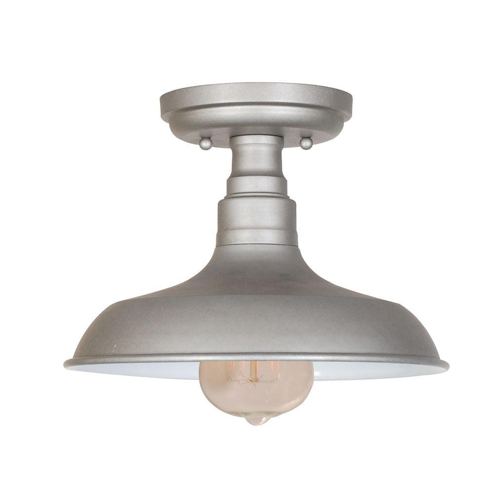 Design House Kimball 1 Light Galvanized Steel Indoor Ceiling Mount Within Most Recently Released Galvanized Outdoor Ceiling Lights (View 2 of 20)