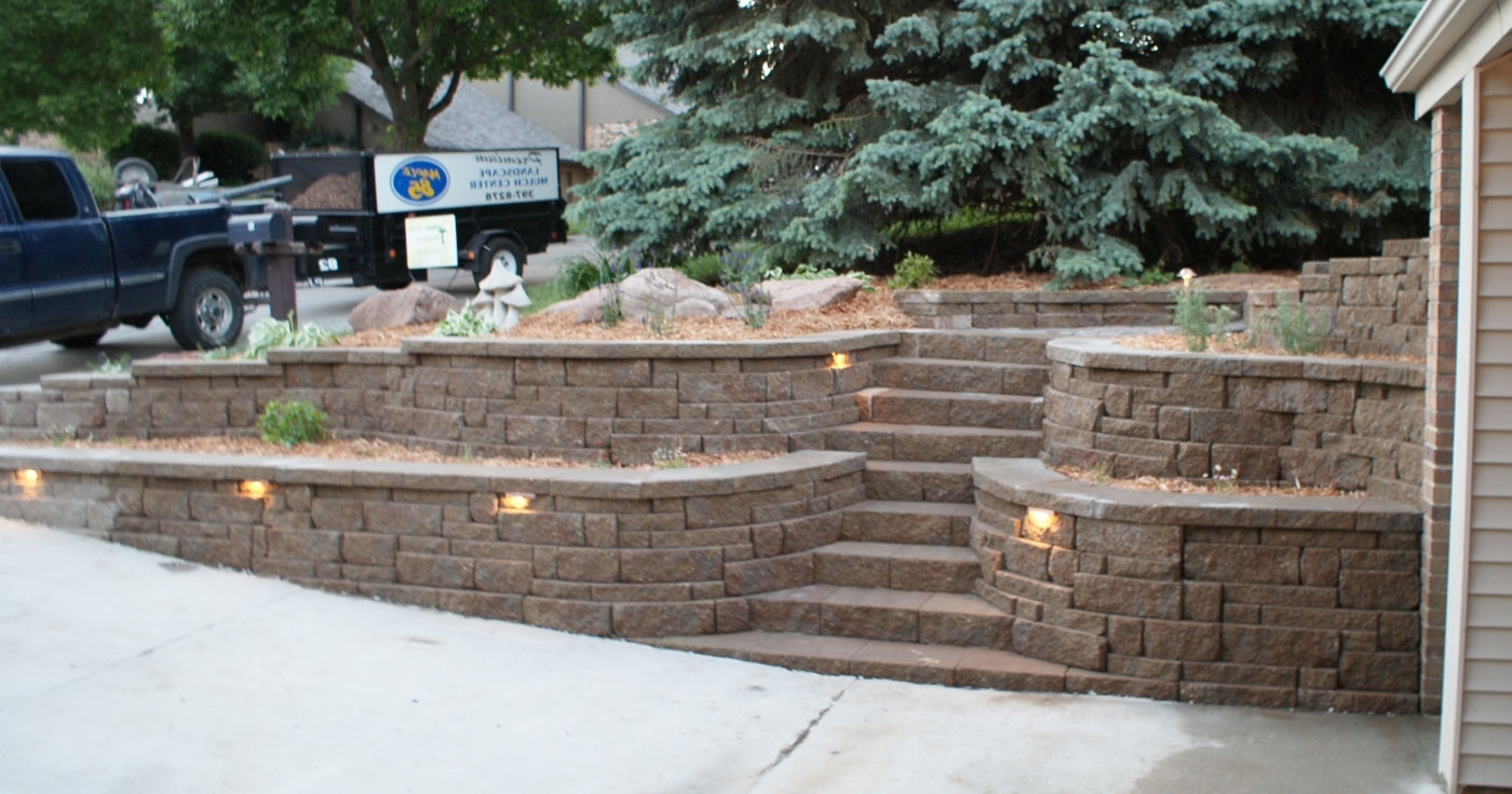 Designer Lights Retaining Outdoor Wall Light Fixtures: 13 Awesome Inside Most Recent Outdoor Rock Wall Lighting (Gallery 13 of 20)