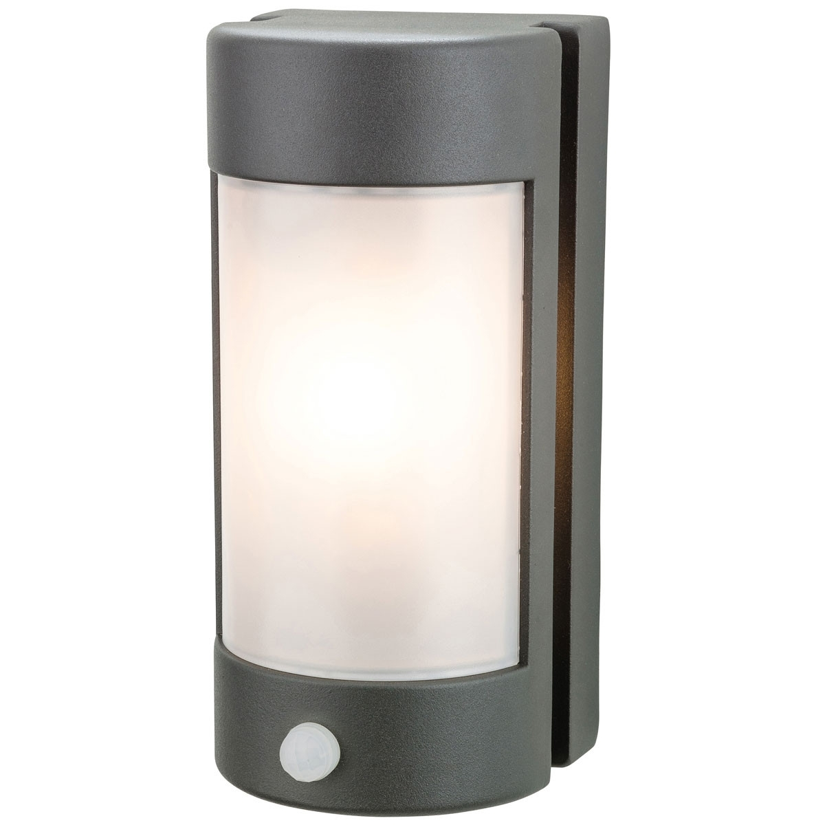 Diecast Aluminium Graphite Outdoor Wall Light With Pir Intended For Latest Outdoor Led Wall Lights With Pir (Gallery 3 of 20)