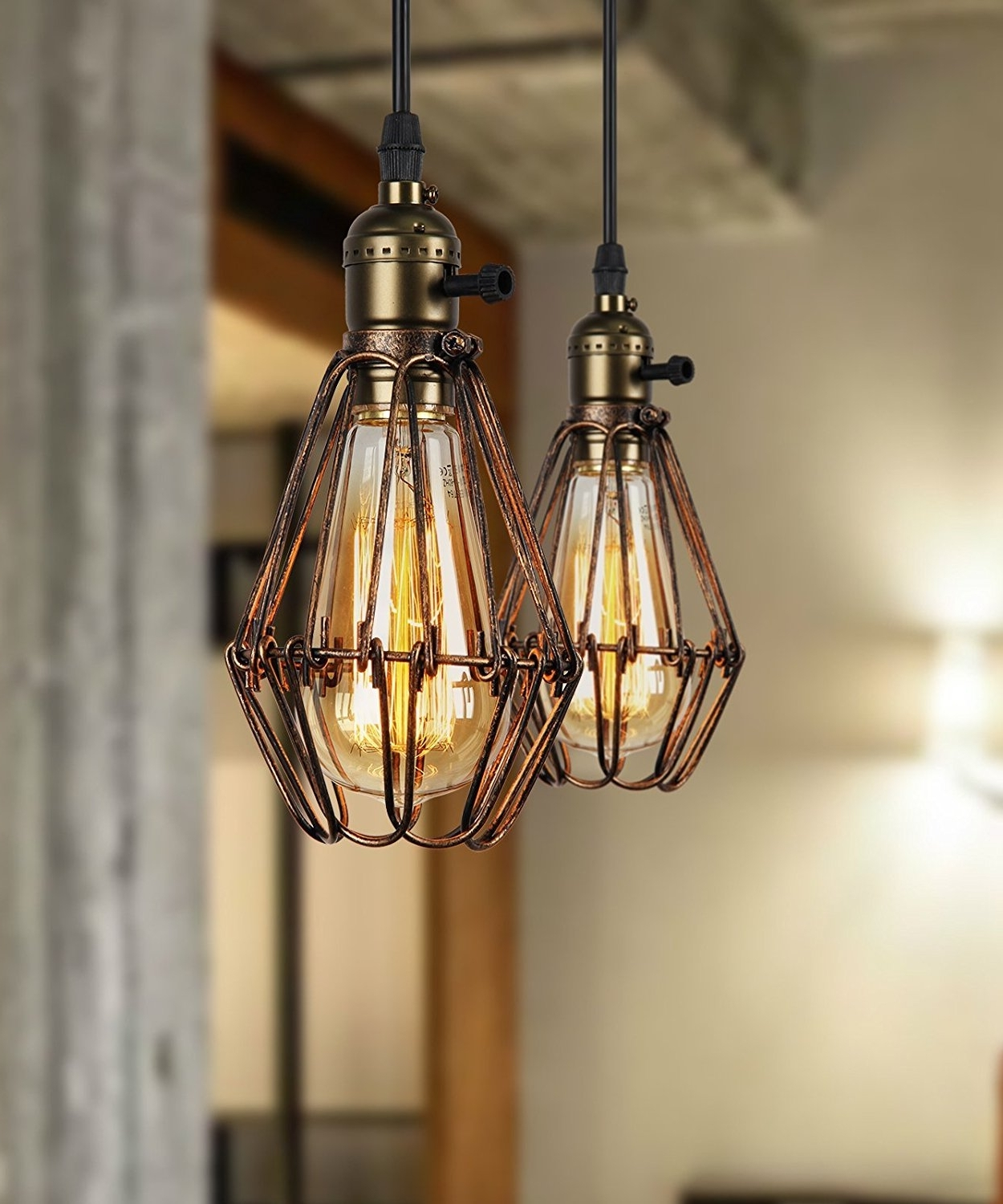 Diy : Outdoor Hanging Lights Very Characteristic Rustic Pendant With Newest Outdoor Hanging Lamps At Amazon (View 14 of 20)