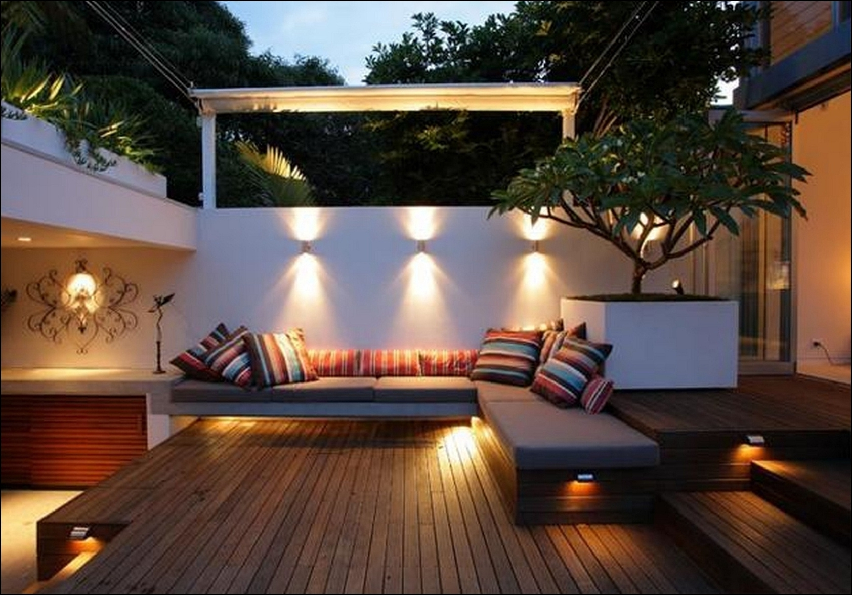 Diy : Solar Garden Lights Modern Outdoor Light Sensor Modern Outdoor  Throughout Preferred Modern Small Outdoor