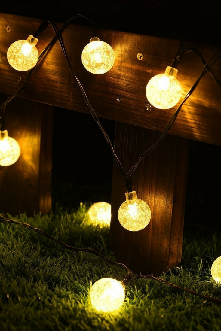 Diy : Solar Operated Led String Light With Crystal Ball Covers Regarding Most Current Outdoor Hanging Light Balls (View 6 of 20)