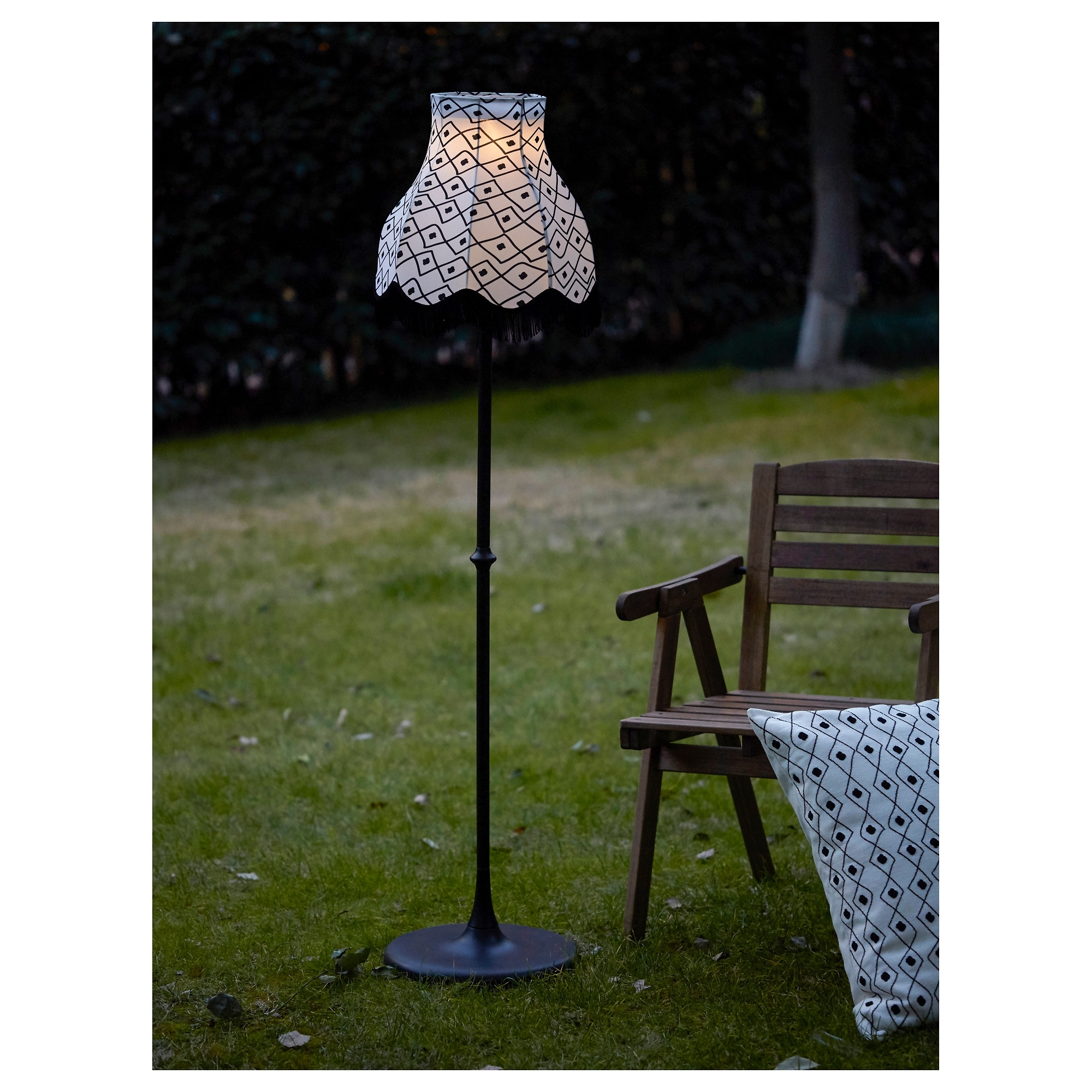 Diy : Solvinden Led Solar Powered Floor Lamp Outdoor Lighting In Preferred Ikea Battery Operated Outdoor Lights (View 4 of 20)
