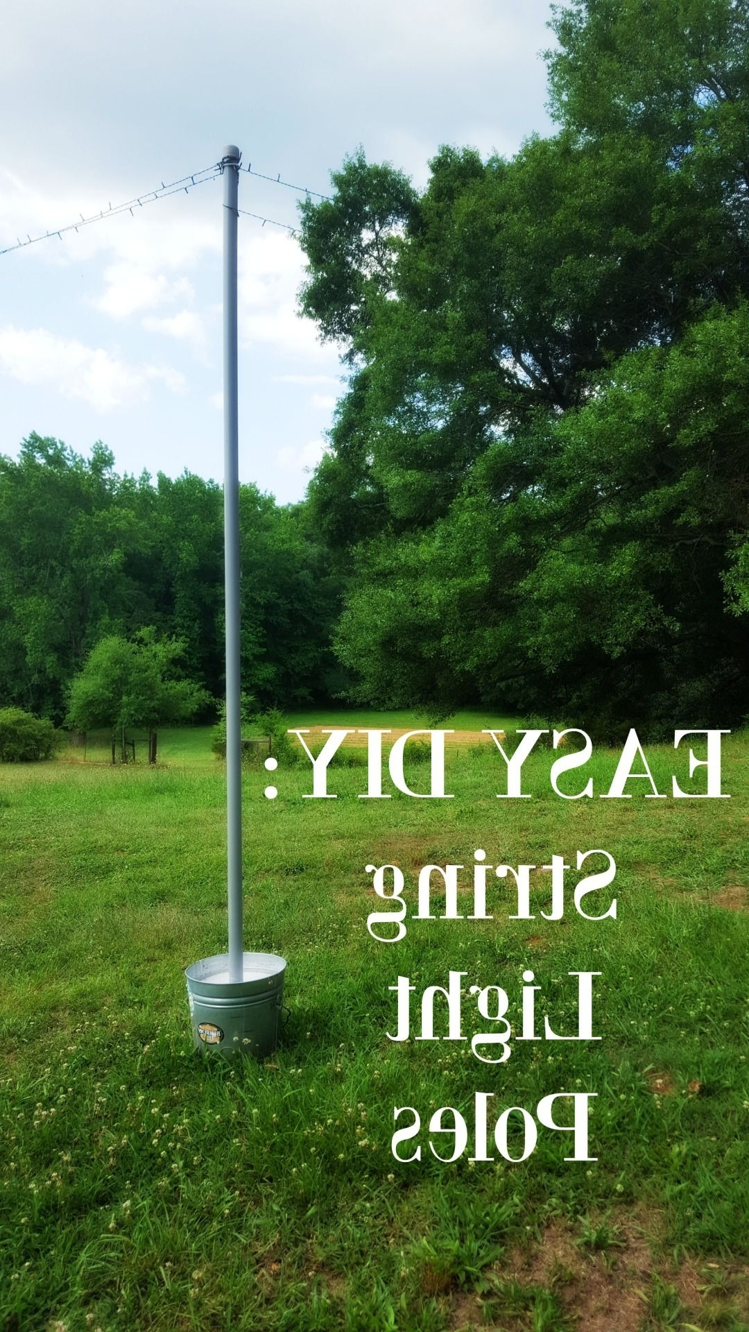 Diy String Light Poles In Under One Hour For Less Than $ (View 14 of 20)