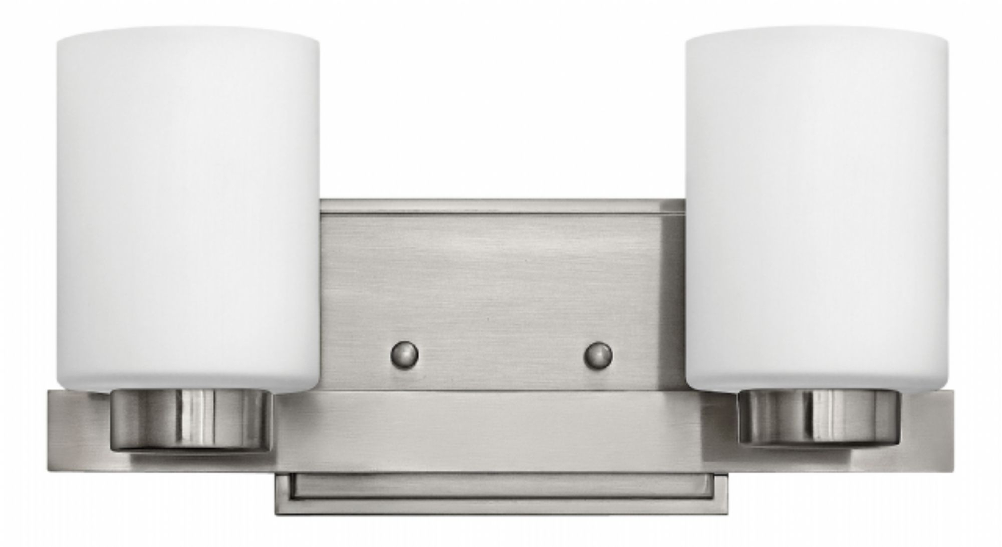 Double Wall Mount Hinkley Lighting For Latest Brushed Nickel Miley > Interior Wall Mount (Gallery 20 of 20)