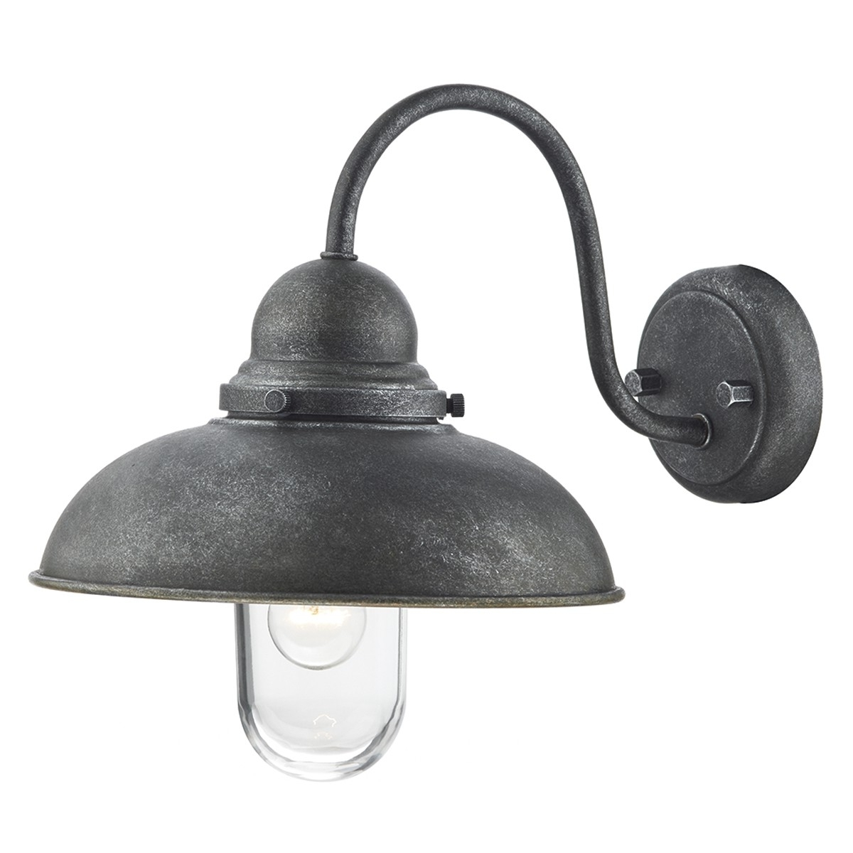 Dynamo 1 Light Wall Bracket Aged Iron Ip44 Inside Widely Used Outdoor Wall Lighting At Ebay (View 12 of 20)