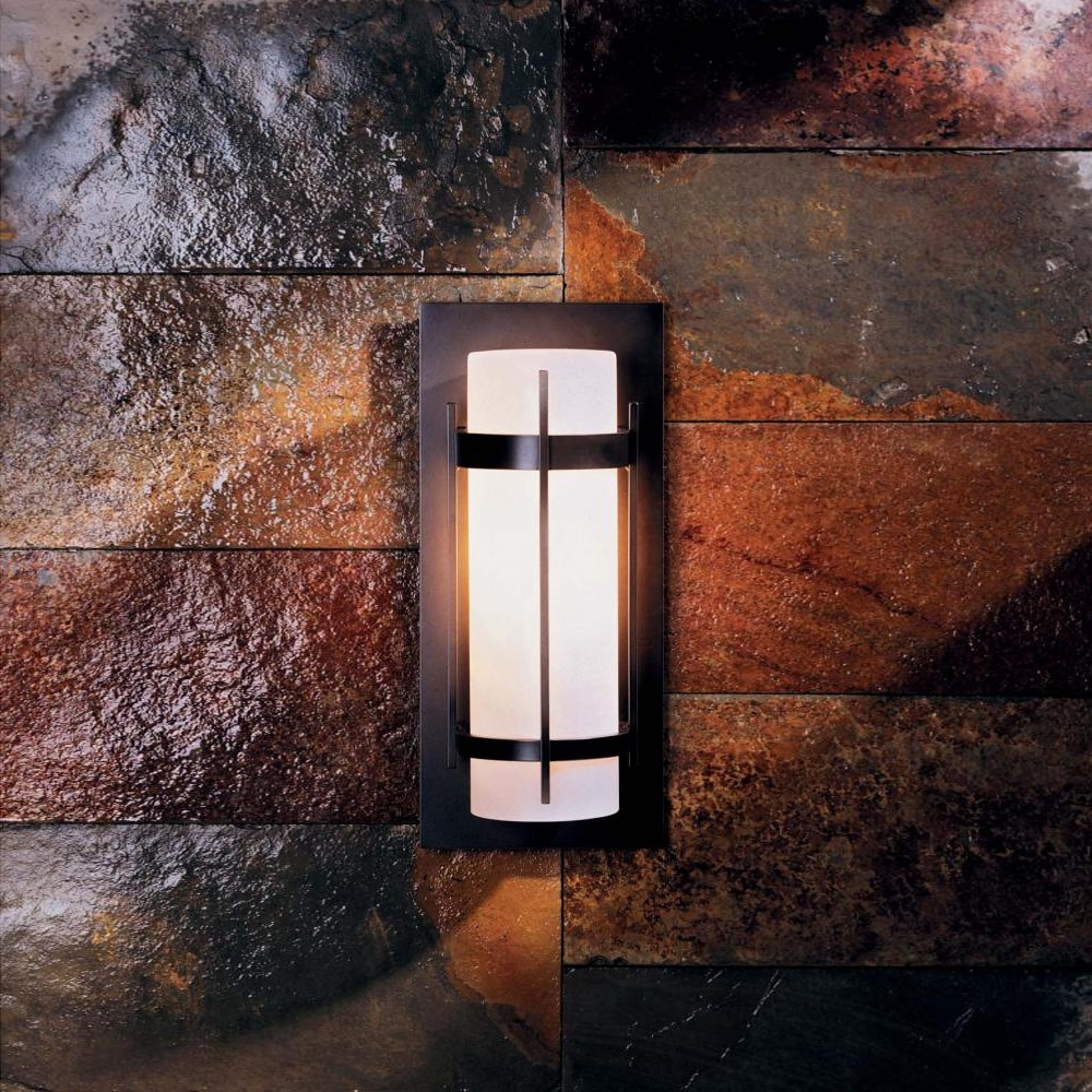 Elegant Outdoor Wall Lighting Pertaining To Best And Newest Hubbardton Forge 305893 Banded Led Exterior Wall Light Fixture – Hub (View 5 of 20)