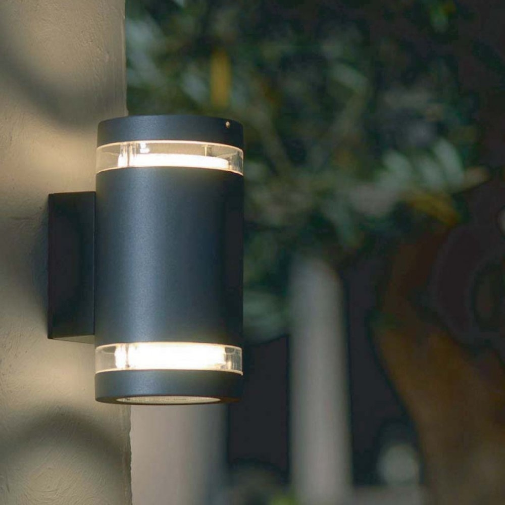 Elstead Lighting Lutec Lighting Focus 6046 Graphite Up And Down Wall Within Well Known Up And Down Outdoor Wall Lighting (Gallery 13 of 20)