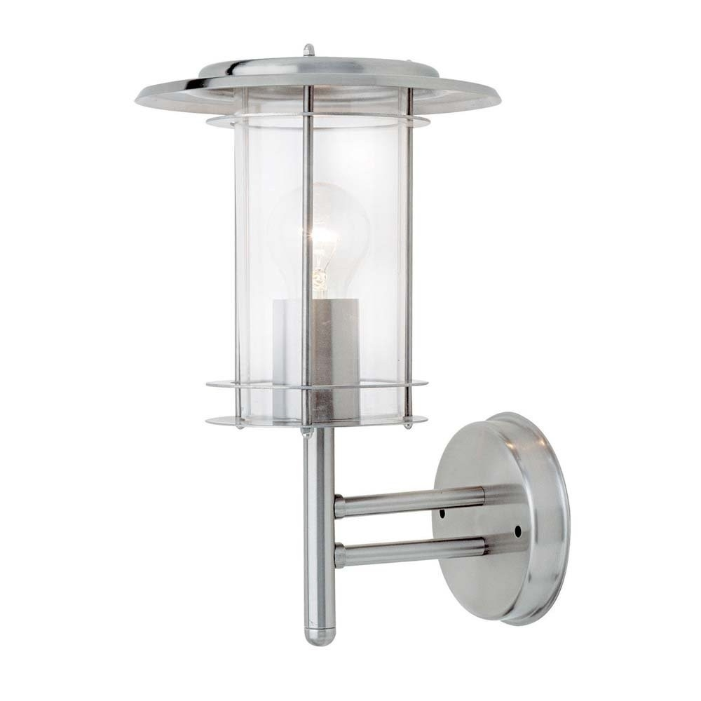 Endon 4478182 York Outdoor Wall Light Polished Stainless Steel With Regard To Most Popular Endon Lighting Outdoor Wall Lanterns (Gallery 20 of 20)