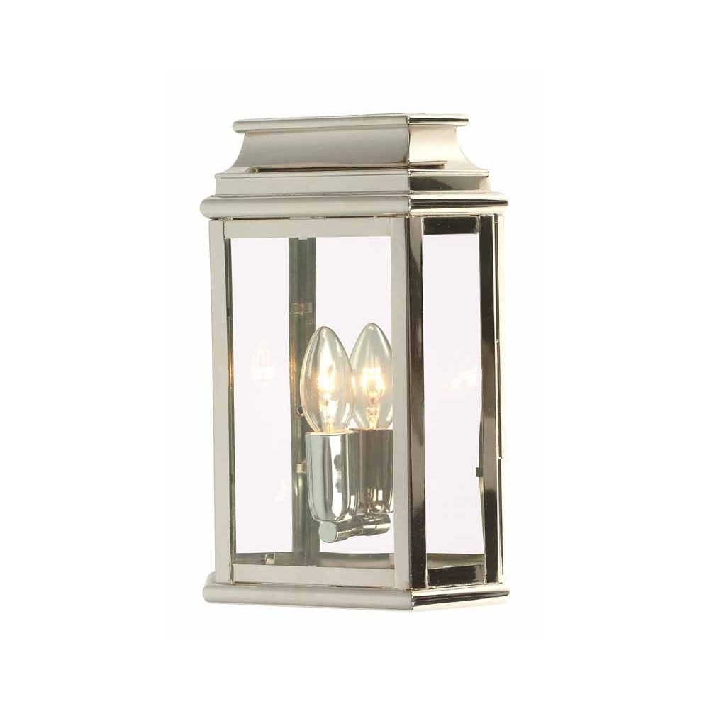 Endon Lighting Outdoor Wall Lanterns In Preferred Elstead Lighting St Martins Polished Nickel Wall Lantern (View 10 of 20)