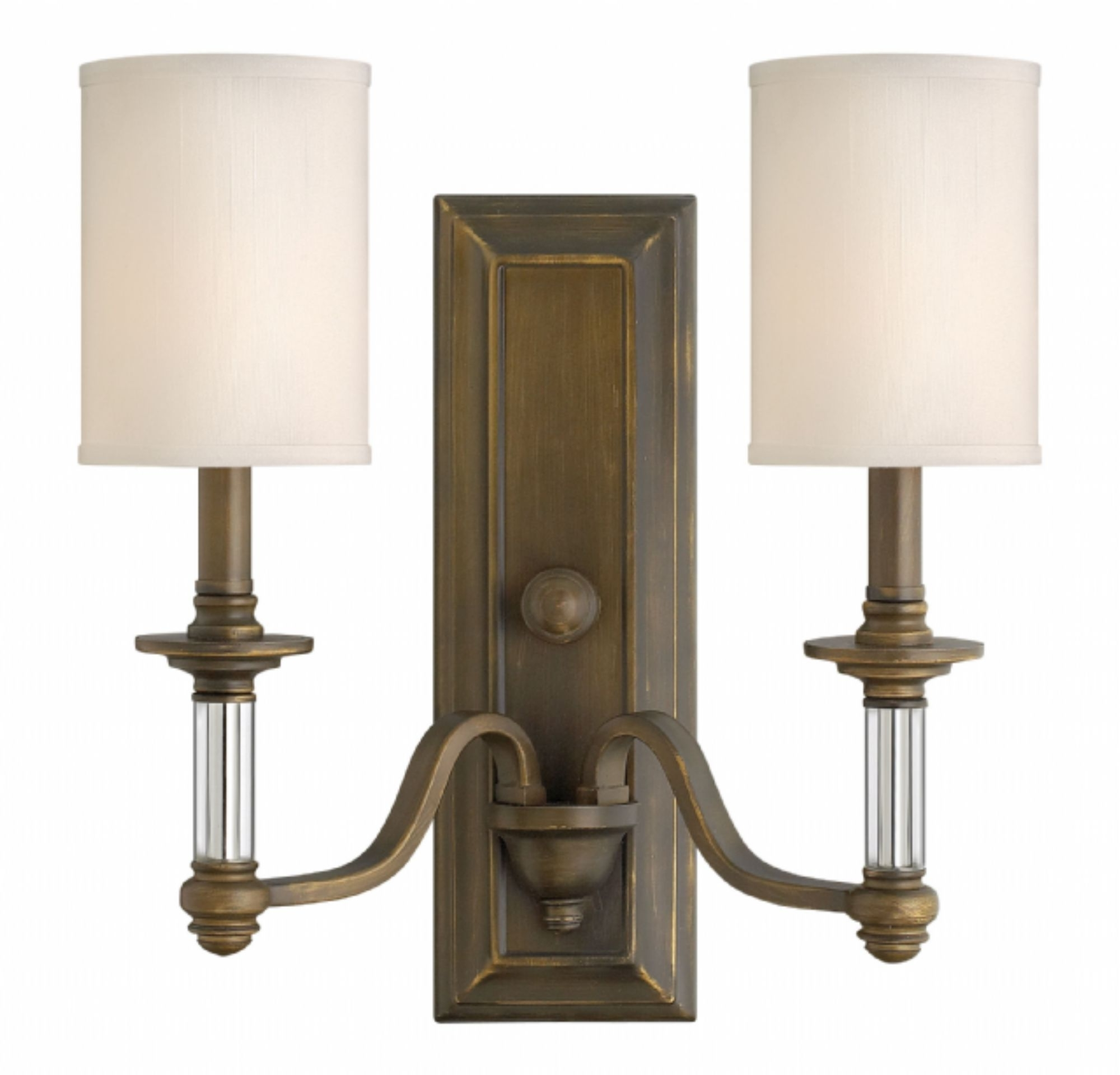 English Bronze Sussex > Interior Wall Mount Throughout Most Popular Double Wall Mount Hinkley Lighting (Gallery 3 of 20)