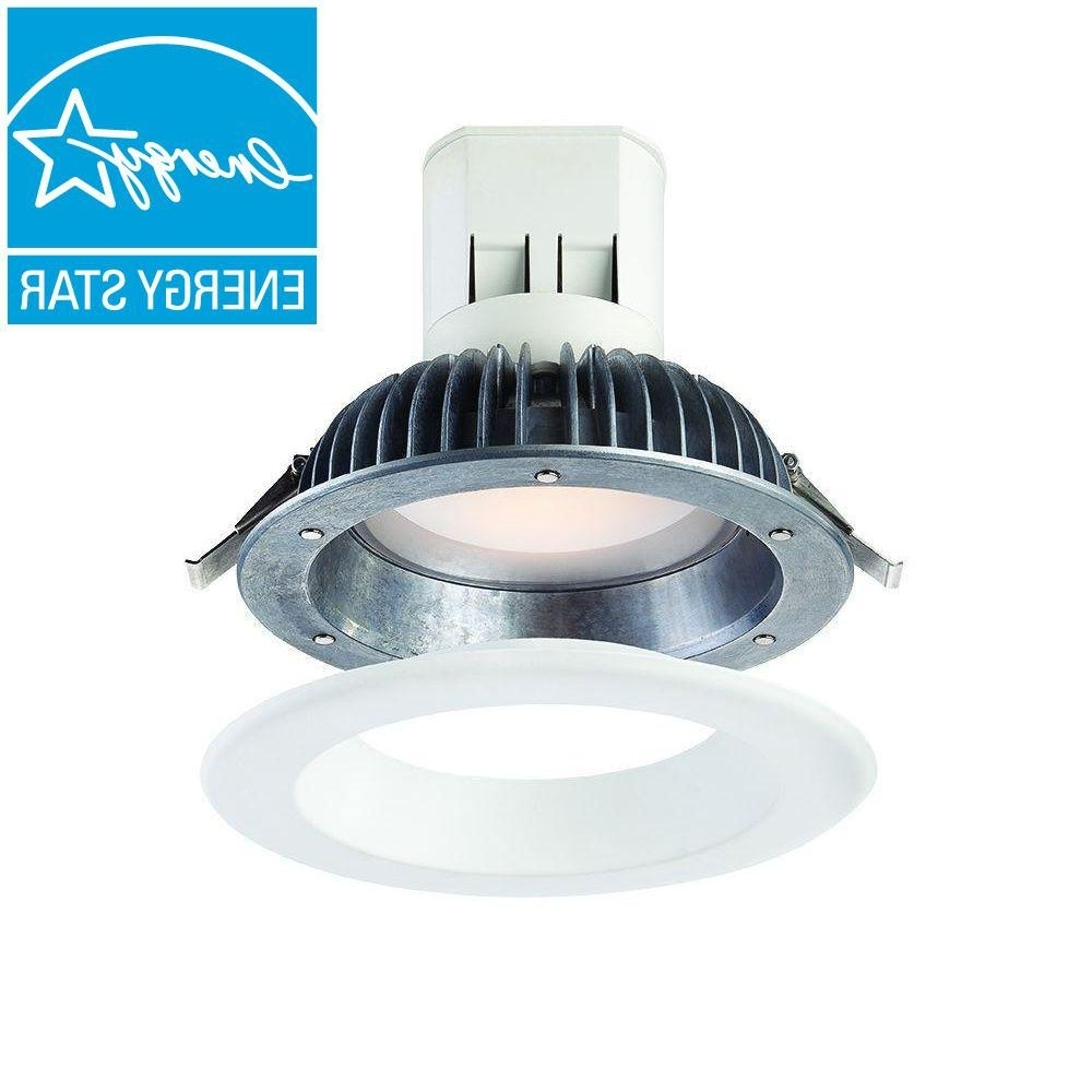 Envirolite Easy Up With Magnetic Trim 6 In. White Integrated Led Pertaining To Well Known Outdoor Recessed Ceiling Lights (Gallery 13 of 20)