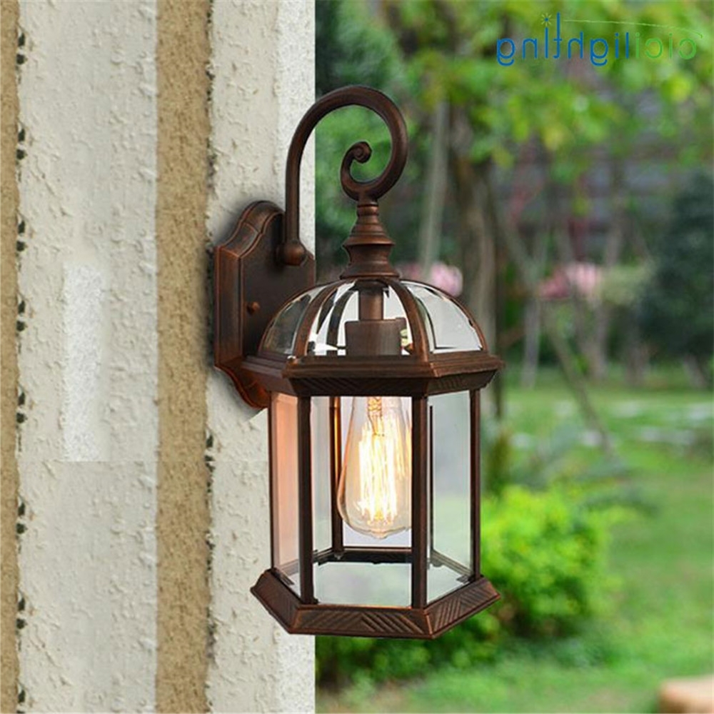 European Outdoor Wall Lighting Intended For Well Known Rustic Waterproof Outdoor Wall Lamp Antique Outdoor Garden Lamps (Gallery 12 of 20)