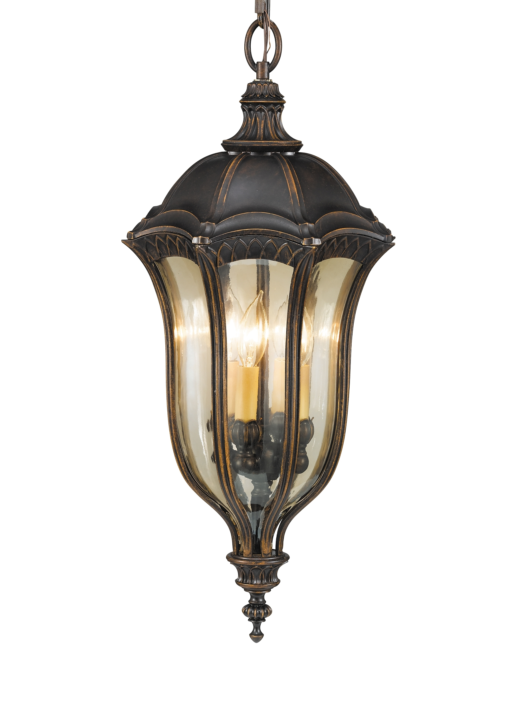 Extra Large Outdoor Hanging Lights Within Most Recent Ol6012wal,4 – Light Pendant,walnut (View 8 of 20)