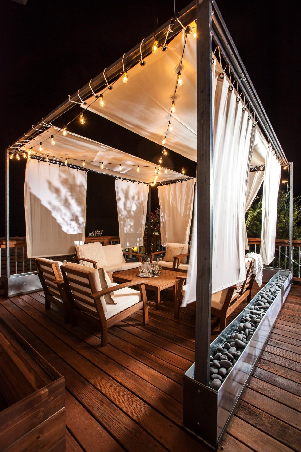 Famous 10 Ways To Amp Up Your Outdoor Space With String Lights (View 2 of 20)
