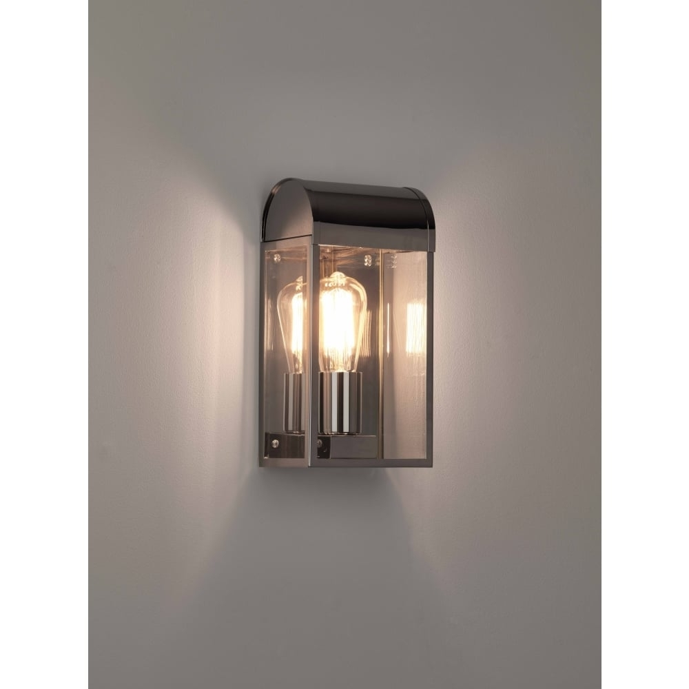 Famous 7863 Newbury Outdoor Wall Light Polished Nickel Within Nickel Polished Outdoor Wall Lighting (View 5 of 20)
