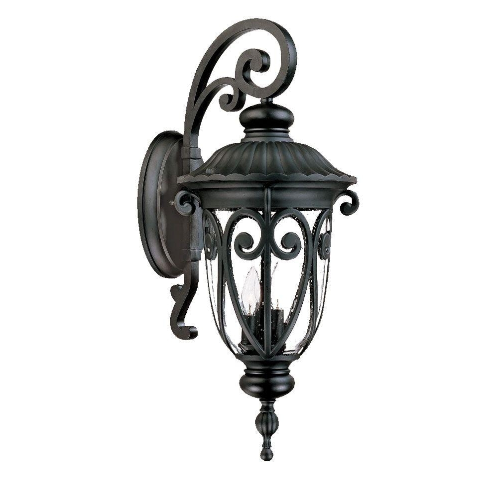 Famous Acclaim Lighting Outdoor Wall Lights With Acclaim Lighting Naples Collection 1 Light Matte Black Outdoor Wall (View 8 of 20)