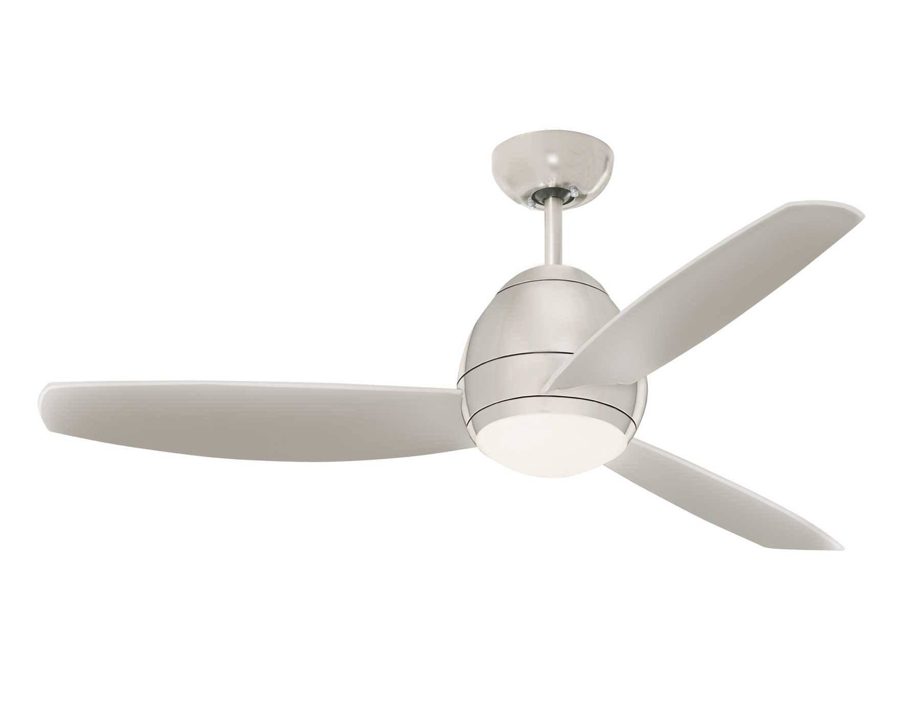 Famous Brushed Steel Avruc Outdoor Ceiling Fan W/ Light In Outdoor Ceiling Fans With Lights (View 13 of 20)