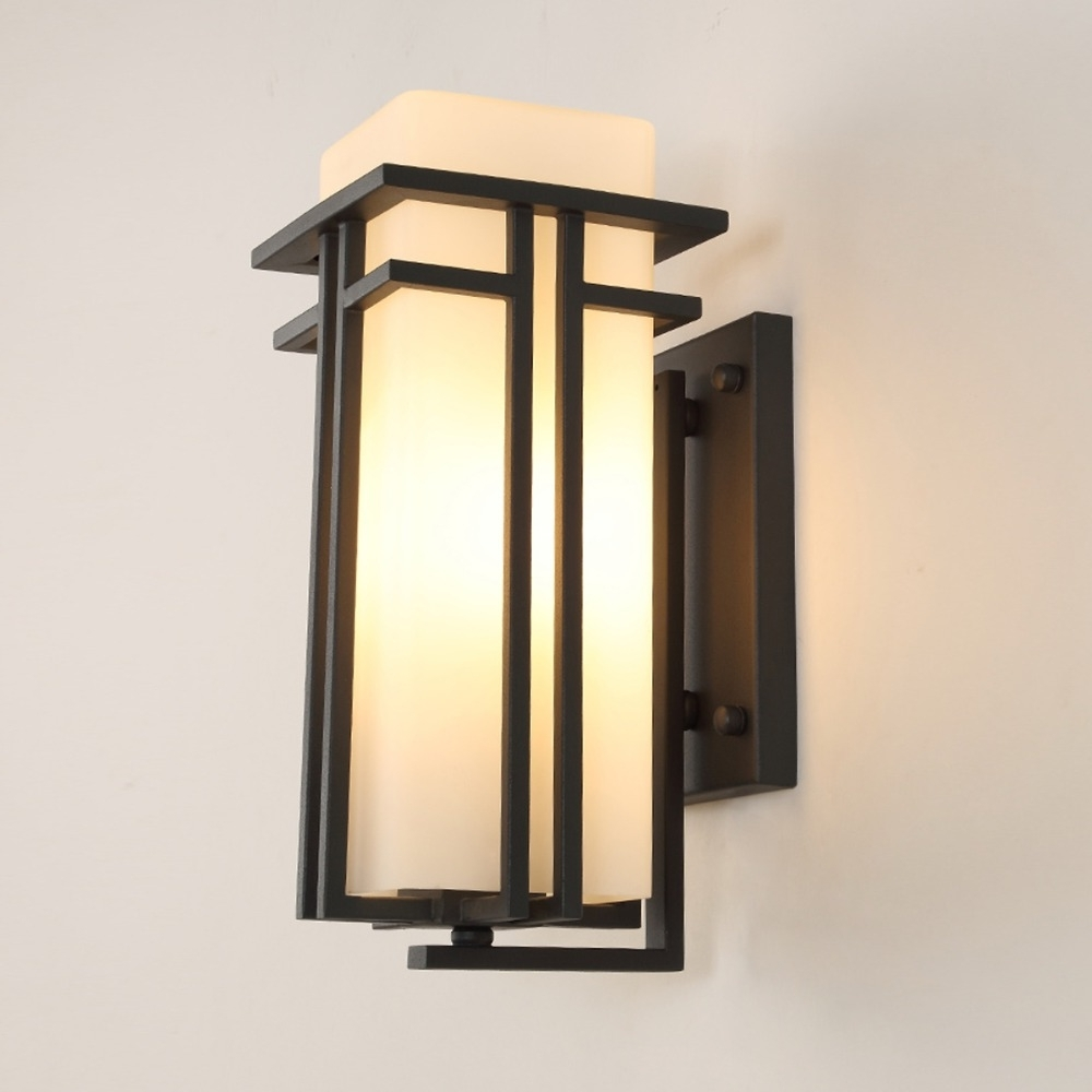 Famous China Outdoor Wall Lighting Regarding E27 40W Modern Chinese Style Waterproof Outdoor Wall Lamp Outer (View 13 of 20)