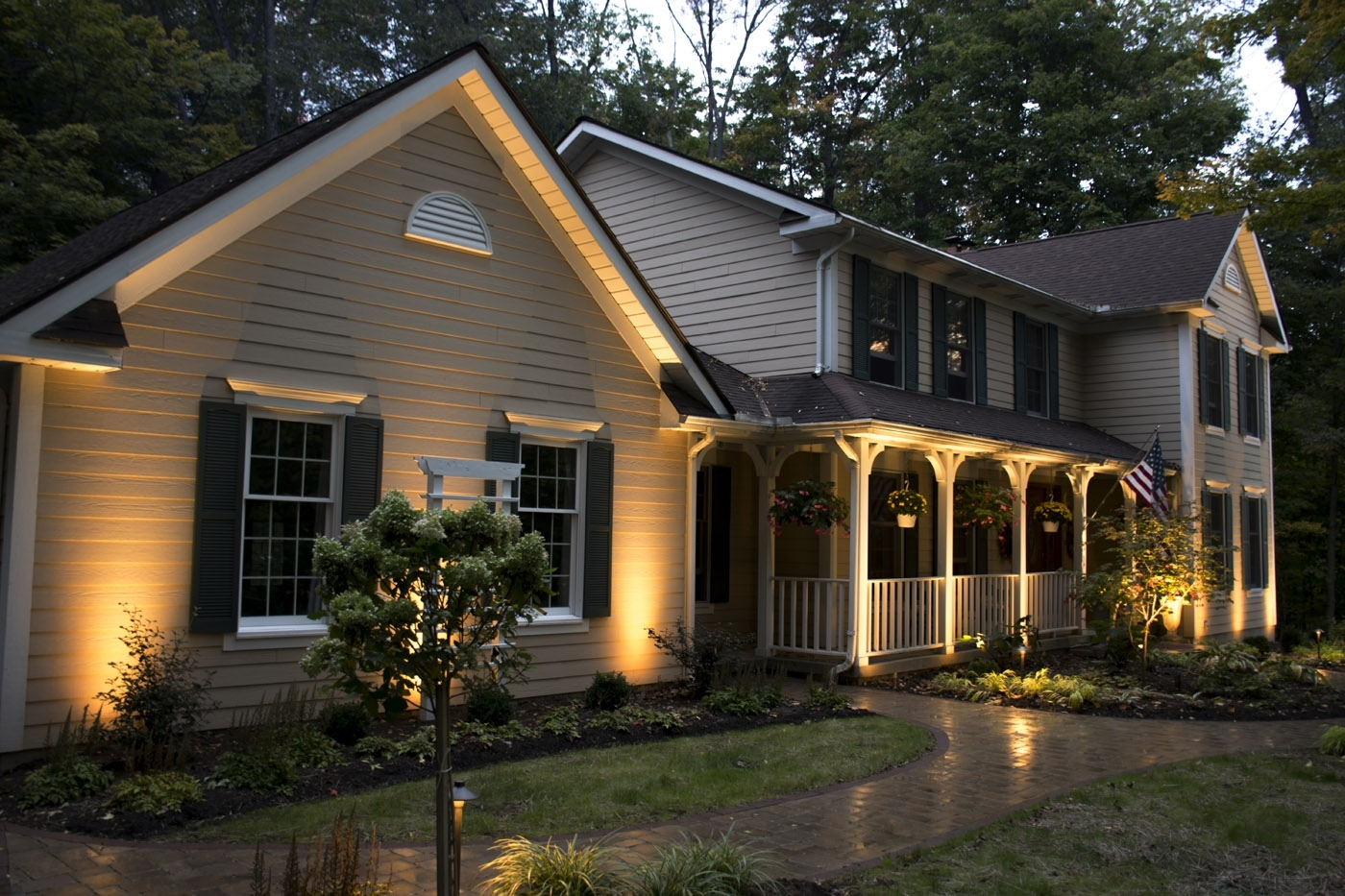 Famous Cottage Outdoor Lighting Intended For Twinsburg Ohio Led Outdoor Lighting And Led Landscape Lighting (View 20 of 20)