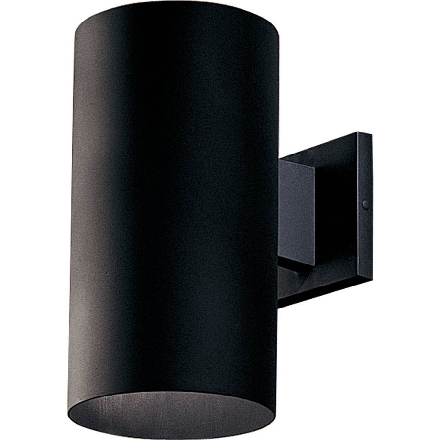Famous Dark Sky Outdoor Wall Lighting Intended For Shop Progress Lighting 12 In H Black Dark Sky Outdoor Wall Light At (View 8 of 20)