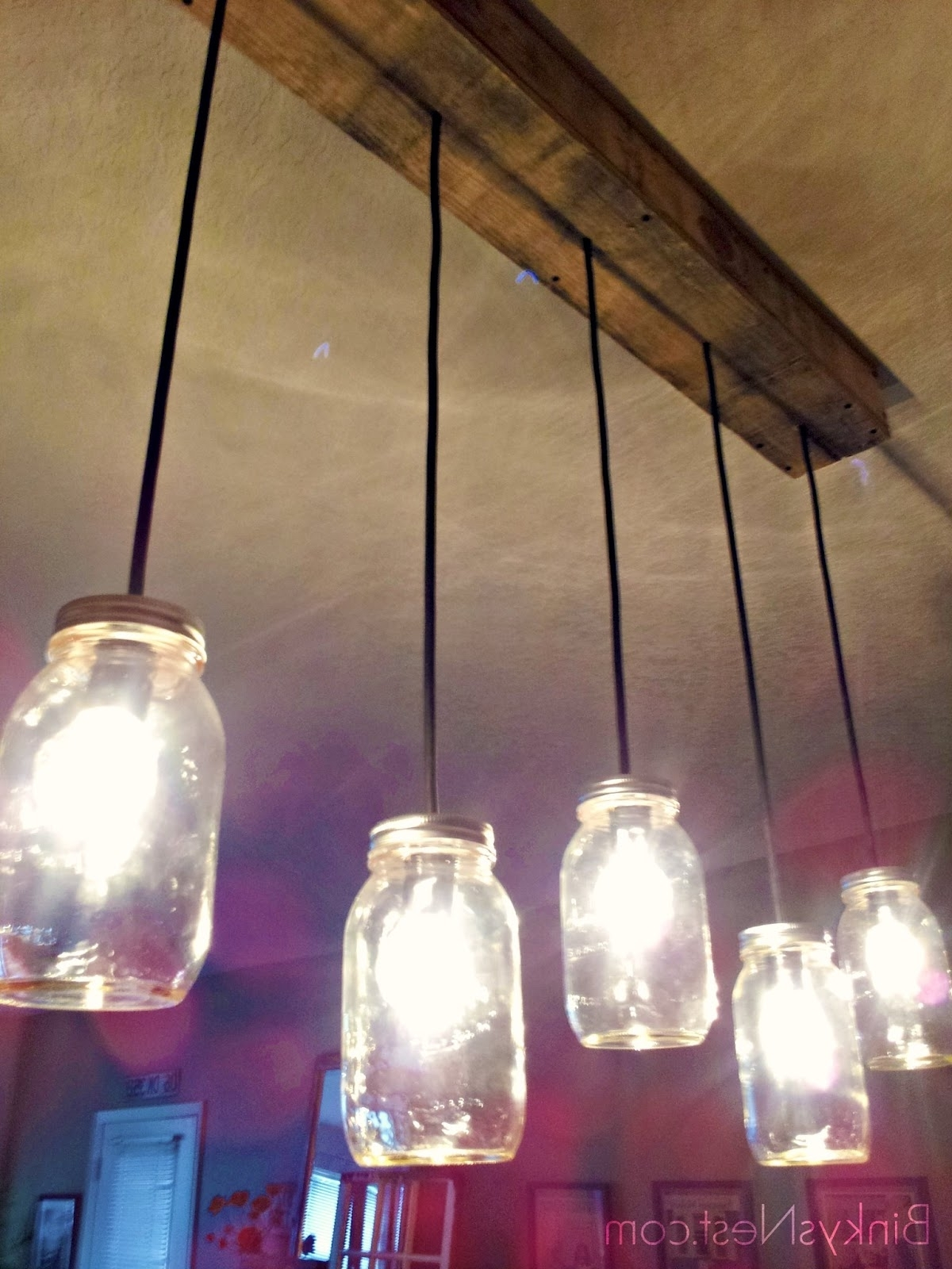 Famous Diy Outdoor Ceiling Lights In Twenty8Divine: Mason Jar & Rustic Pallet Light Fixture Diy (View 10 of 20)