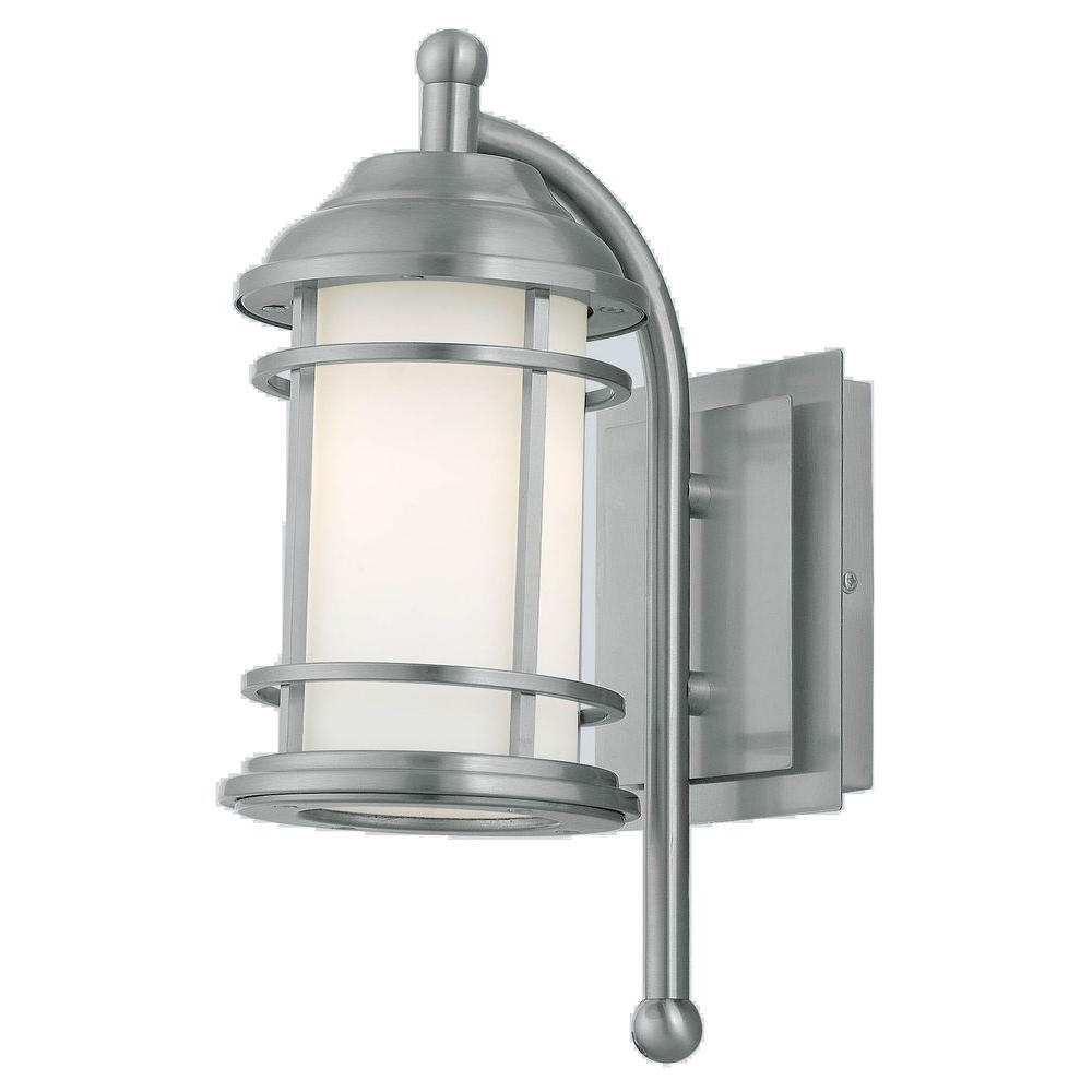 Famous Eglo Outdoor Lighting For Eglo Portici 1 Light Stainless Steel Outdoor Wall Mount Lamp 20639A (View 11 of 20)