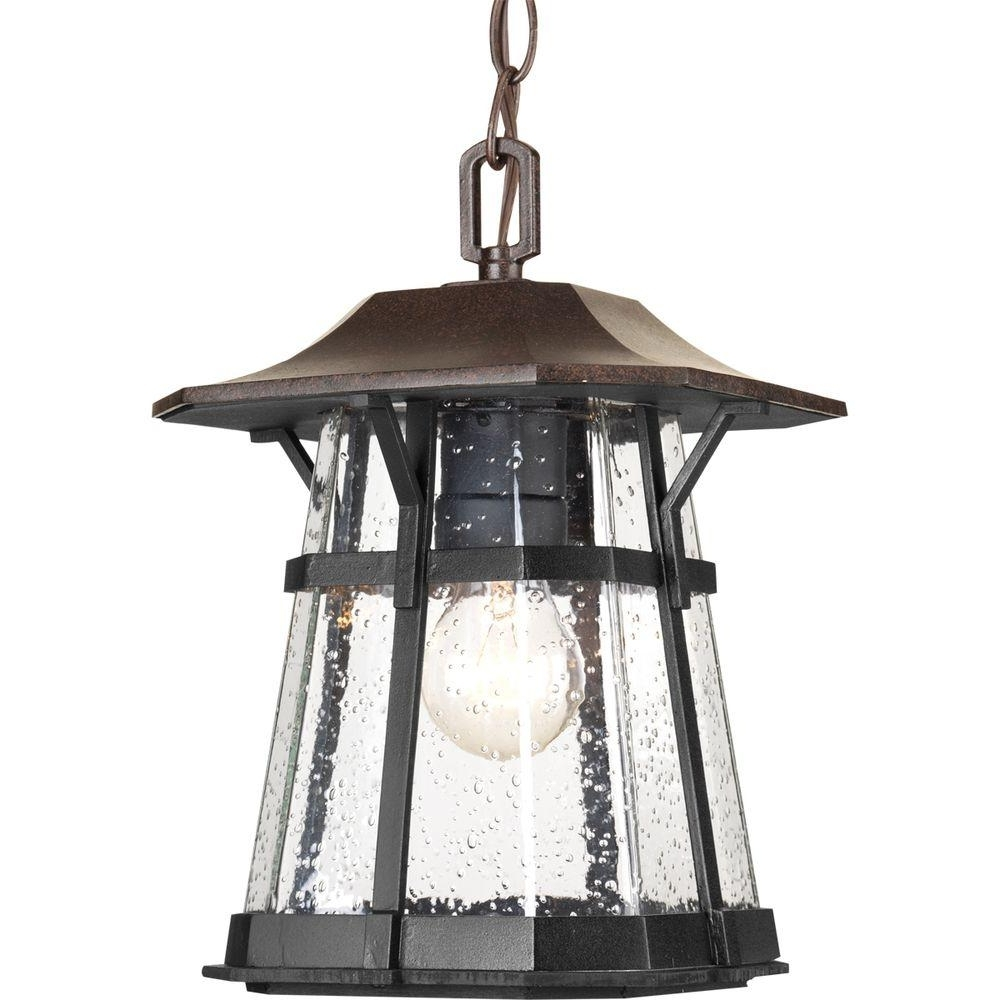 Famous Electric Outdoor Hanging Lanterns Pertaining To Progress Lighting Derby Collection 1 Light Espresso Outdoor Hanging (View 16 of 20)