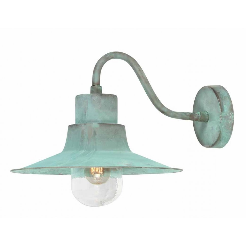 Famous Elstead Lighting Sheldon Verdigris Outdoor Wall Light Intended For Green Outdoor Wall Lights (View 3 of 20)
