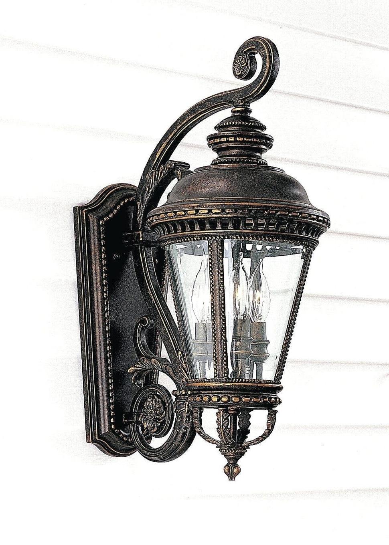 Famous Endon Lighting Outdoor Wall Lanterns Regarding Furniture : Allen Roth Bronze Outdoor Wall Mounted Light Progress (View 15 of 20)