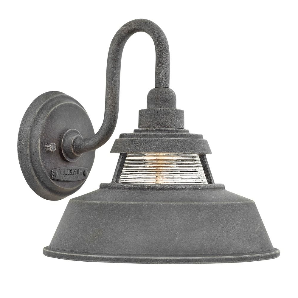Famous Farmhouse Barn Light Outdoor Wall Light Aged Zinchinkley In Farmhouse Outdoor Wall Lighting (View 2 of 20)