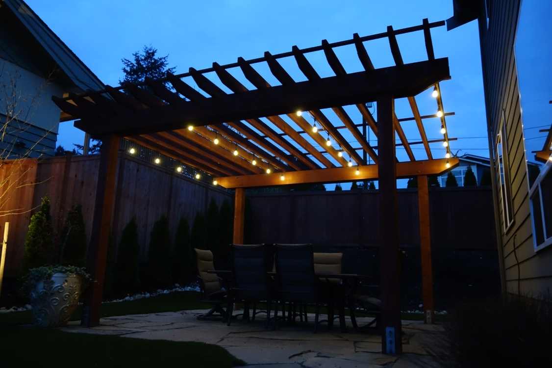 Famous Furniture : Cafe Lights String Absolute Lighting Outdoor Bistro Bed With Regard To Hanging Outdoor Cafe Lights (View 13 of 20)