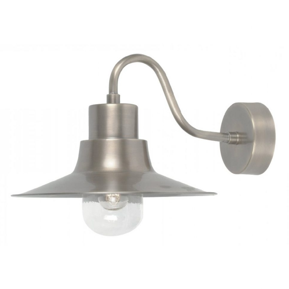 Famous Furniture : Elstead Lighting Sheldon Antique Nickel Outdoor Wall Within Brushed Nickel Outdoor Wall Lighting (View 9 of 20)