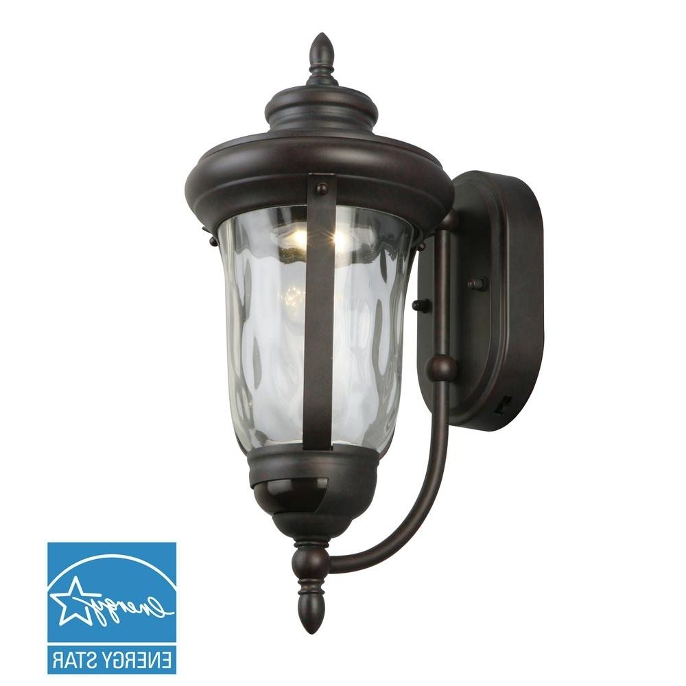 Famous Led Outdoor Wall Lighting At Home Depot Inside Outdoor Sconces – Bronze – Outdoor Wall Mounted Lighting – Outdoor (View 5 of 20)