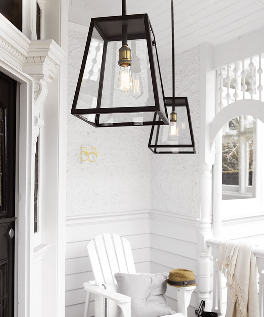 Famous Outdoor Entryway Hanging Lights Intended For Southampton 1 Light Large Exterior Pendant In Antique Black (View 3 of 20)