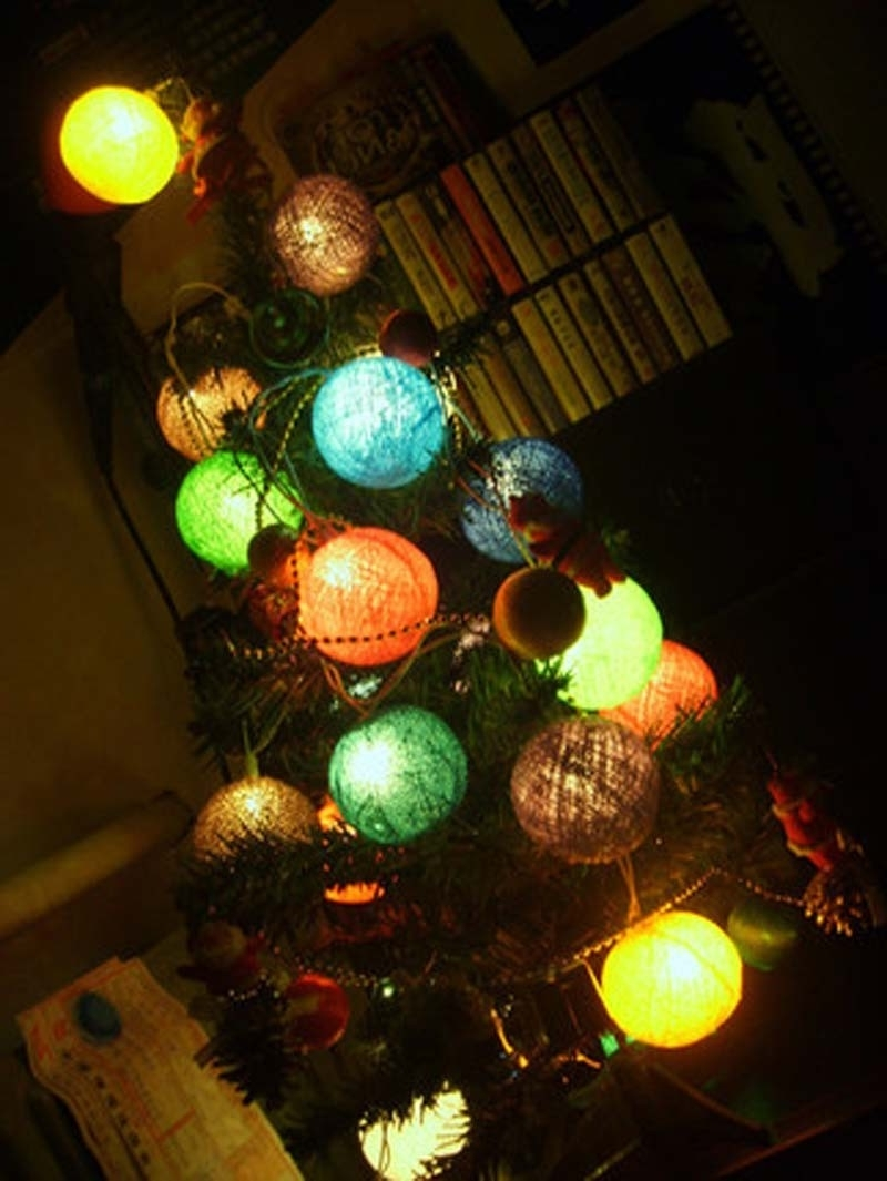Famous Outdoor Hanging Christmas Light Balls For Christmas ~ Stunning Christmas Light Balls Outdoors Hanging (View 8 of 20)