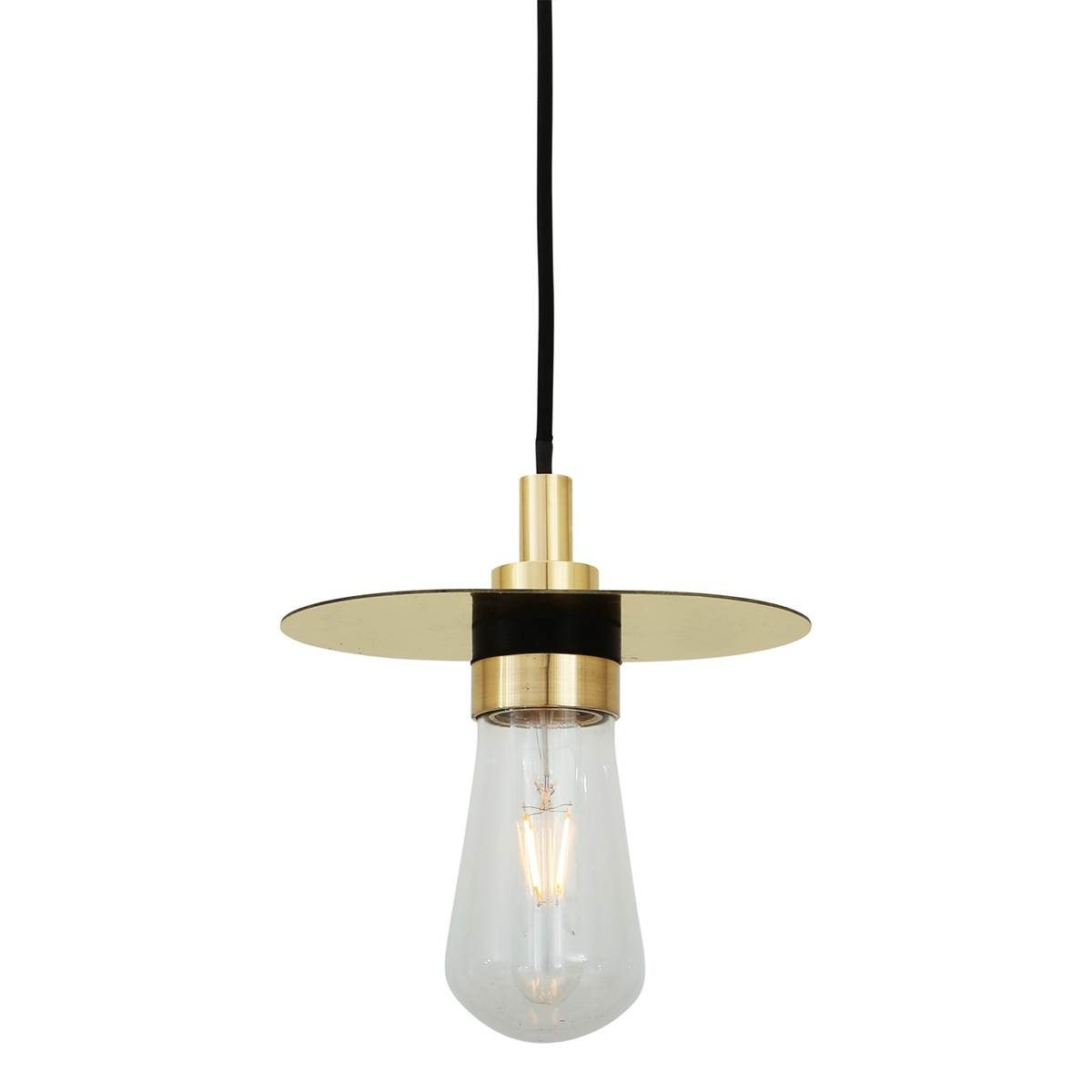 Famous Outdoor Hanging Lamps At Amazon Pertaining To Outdoor Pendant Light Crystal Pendant Light' Brushed Nickel Mini (View 6 of 20)