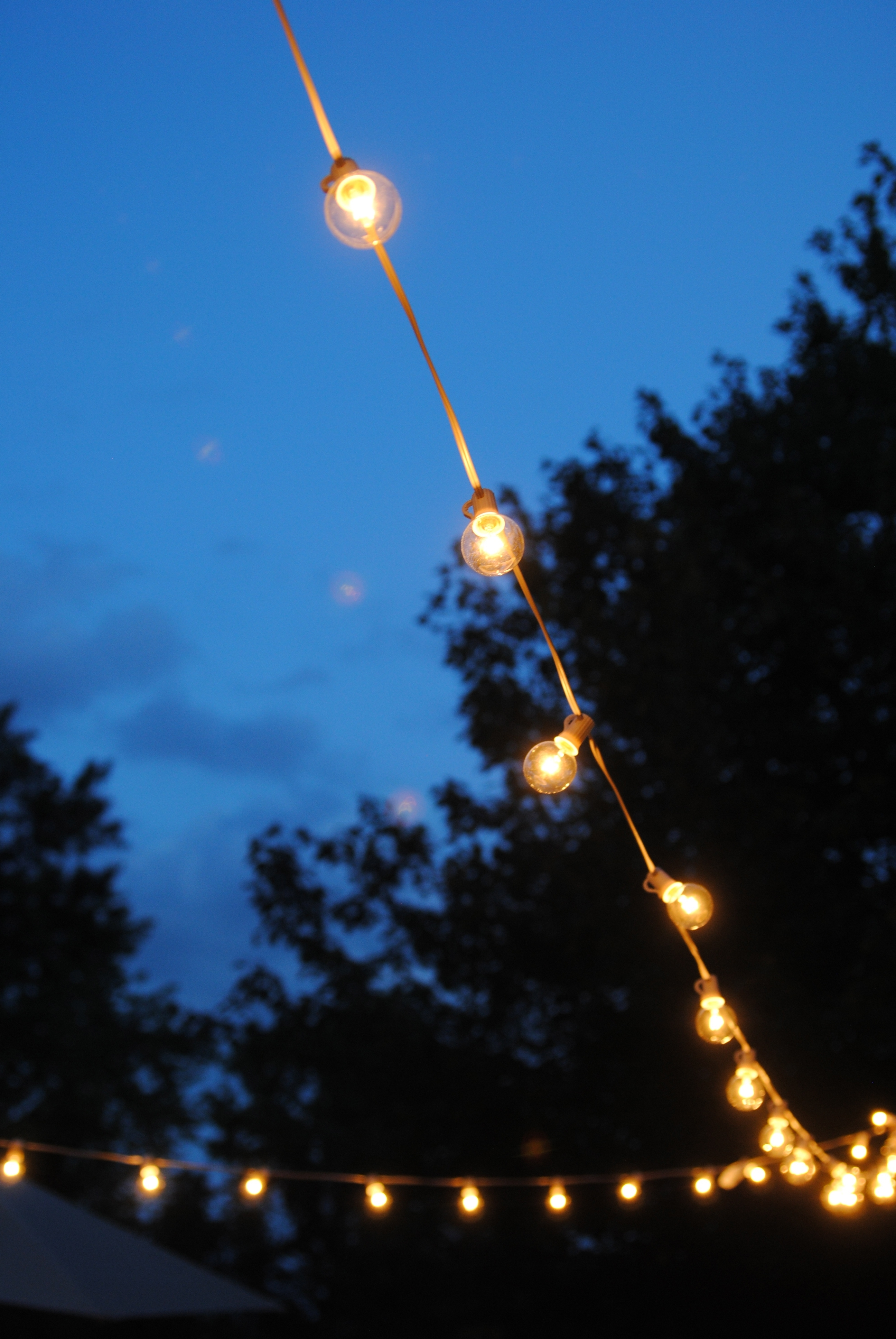 Famous Outdoor Hanging Party Lights With How To Hang Outdoor String Lights (The Deck Diaries, Part  (View 8 of 20)