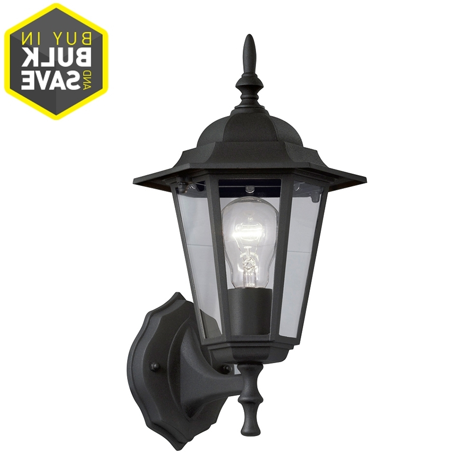 Famous Outdoor Wall Lighting At Lowes Pertaining To Shop Portfolio 14 In H Sand Black Outdoor Wall Light At Lowes (View 2 of 20)