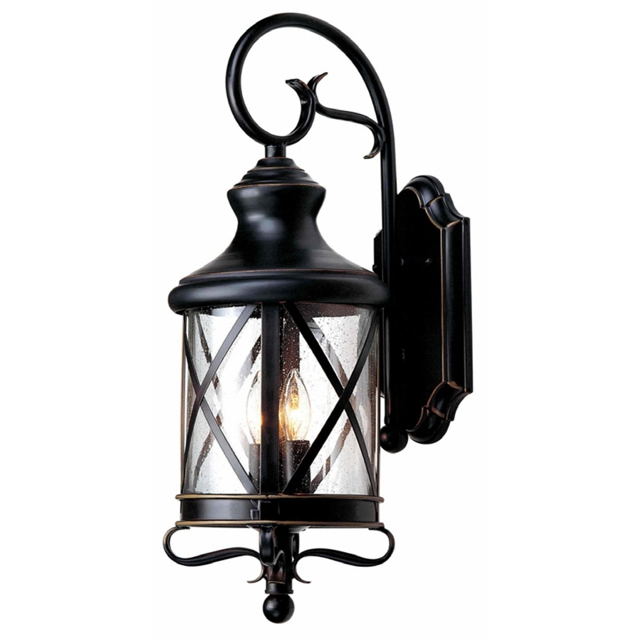 Famous Outdoor Wall Lighting At Lowes Throughout Shop Allen + Roth (View 18 of 20)
