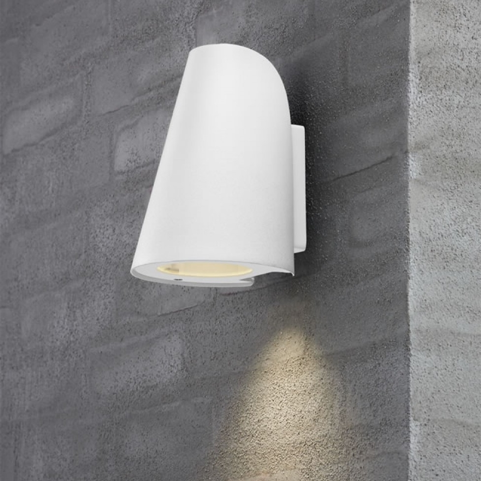 Famous Outdoor Wall Lights In White Within Nordlux Sail E27 Outdoor Wall Light – White (View 5 of 20)
