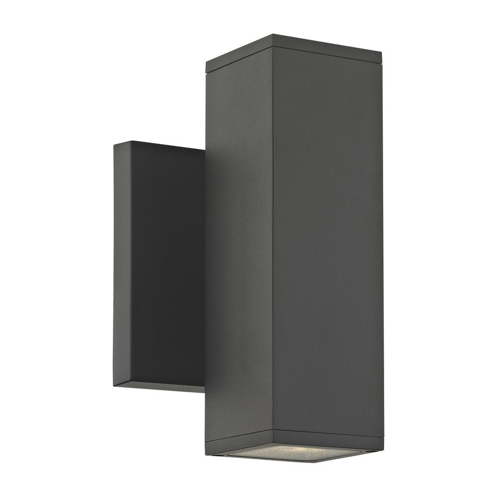 Famous Outside Wall Down Lights For Led Black Outside Wall Light Square Cylinder Up / Down 3000K (View 11 of 20)