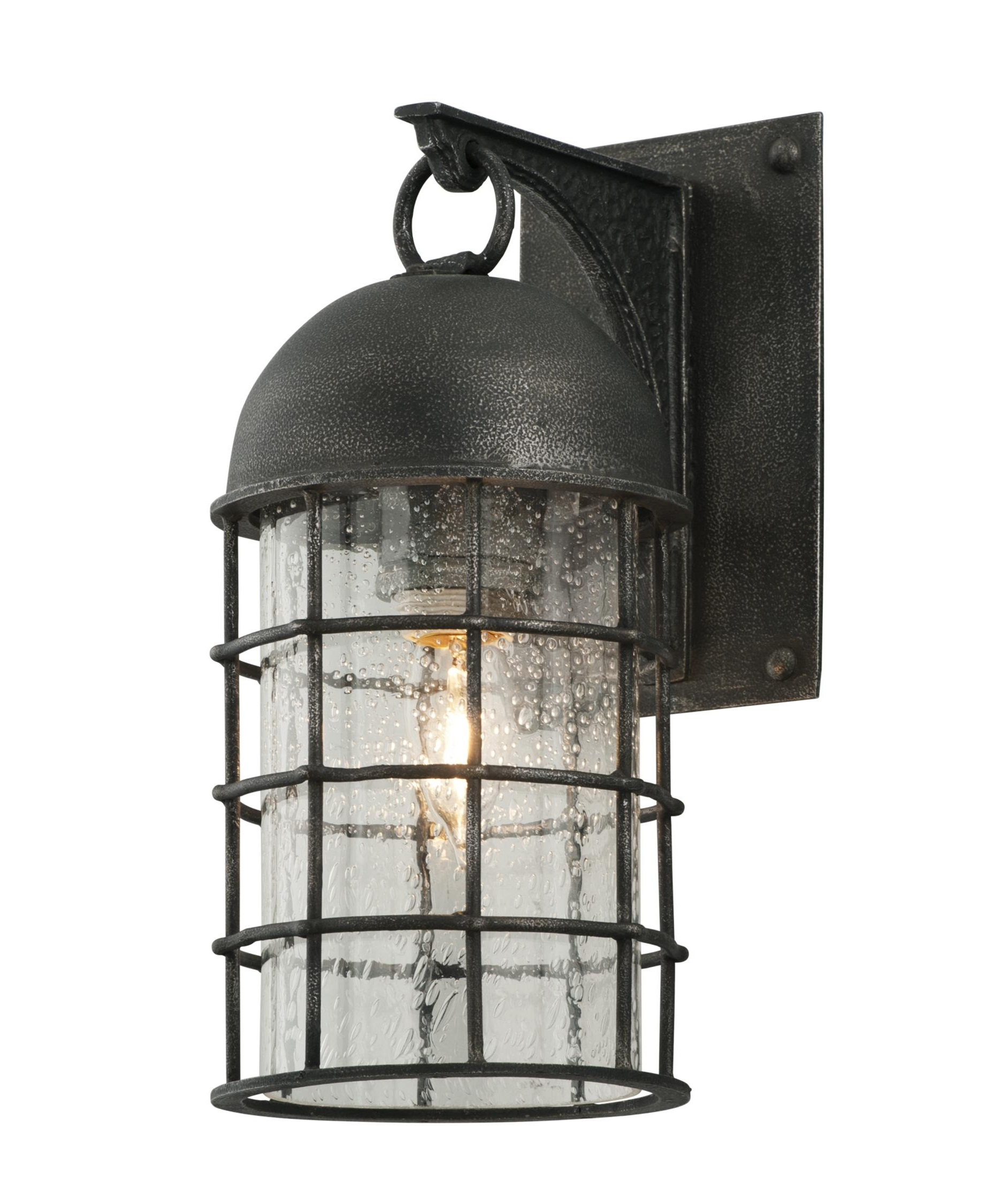 Famous Pewter Outdoor Wall Lights Regarding Troy Lighting B4431 Charlemagne 6 Inch Wide 1 Light Outdoor Wall (View 15 of 20)