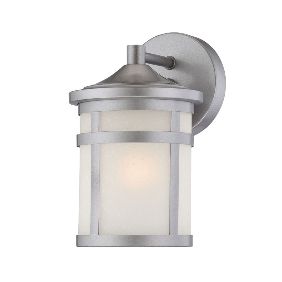 Famous Shop Acclaim Lighting Visage 9 In H Brushed Silver Medium Base (e 26 With Regard To Silver Outdoor Wall Lights (View 2 of 20)