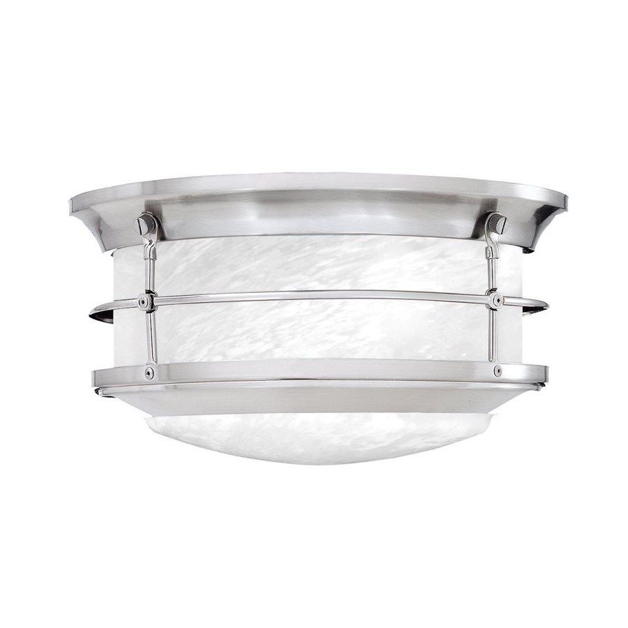 Famous Shop Outdoor Flush Mount Lights At Lowes Regarding White Outdoor Ceiling Lights (View 2 of 20)