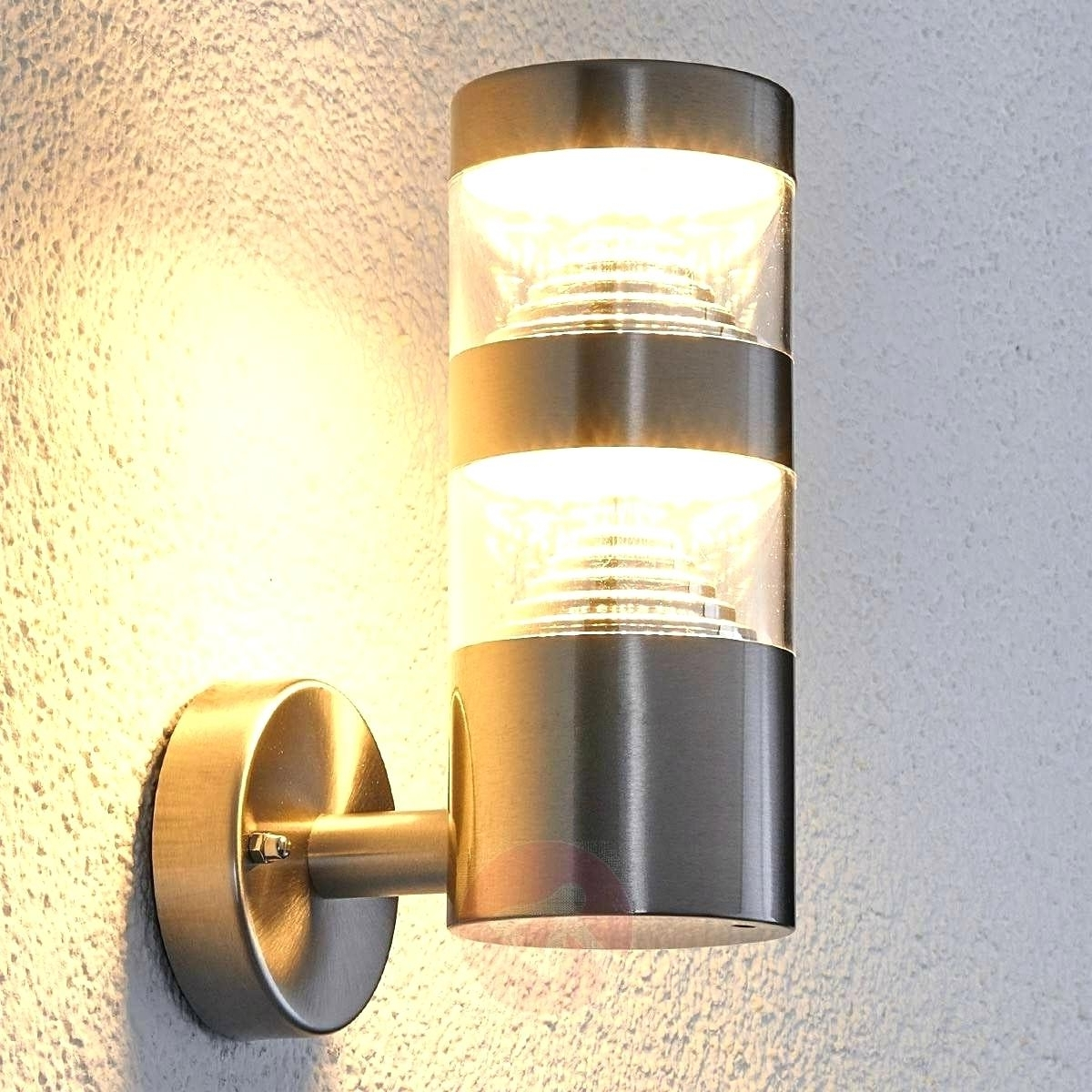 Famous Target Outdoor Wall Lighting For Light : Hampton Bay Riga Light Stainless Steel Outdoor Wall Mount (View 2 of 20)
