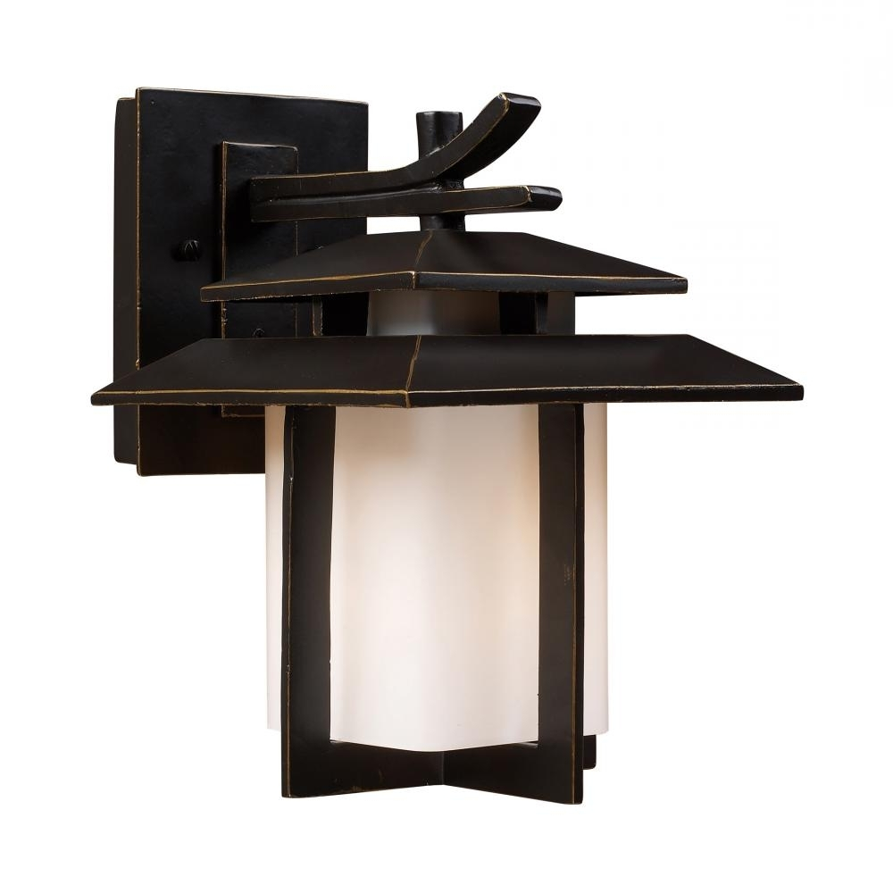 Famous This Bronze Wall Lantern From Elk Lighting Is A Great Way To Try An In Asian Outdoor Wall Lighting (View 10 of 20)