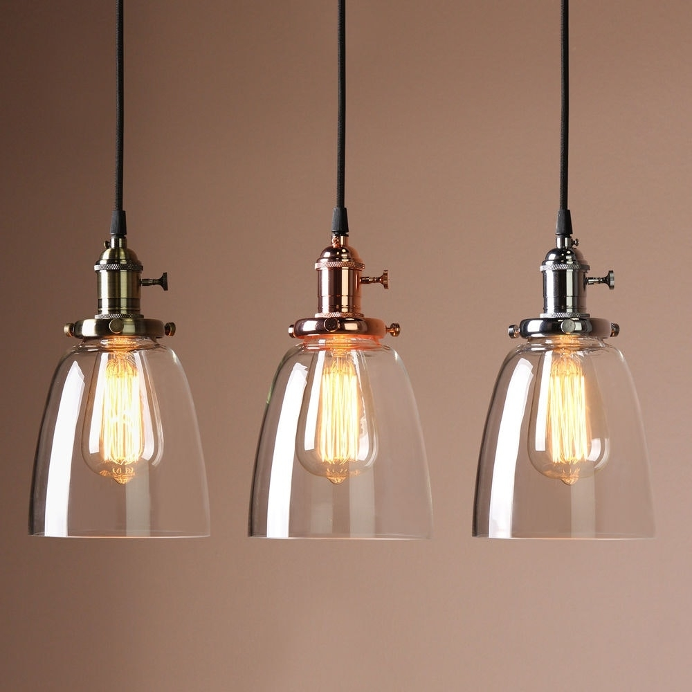 Famous Vintage Outdoor Ceiling Lights Within Vintage Industrial Ceiling Lamp Cafe Glass Pendant Light Shade (View 17 of 20)